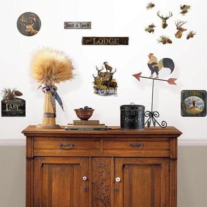 Wall Pops Lodge Wall Art Decal Kit - Wall Sticker Outlet