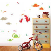 Dino Red Peel and Stick Wall Decals