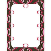 Wall Pops Loopy Red Pink Dry Erase Sheet
