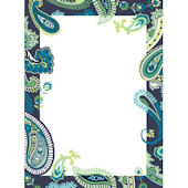 Wall Pops Paisley Please Blue Dry Erase Sheet