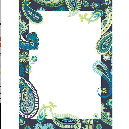 Wall Pops Paisley Please Blue Dry Erase Sheet - Wall Sticker Outlet