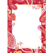 Wall Pops Paisley Please Red Dry Erase Sheet