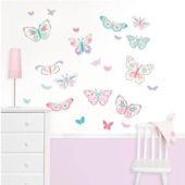 Flutterby Butterflies Wall Decal Kit