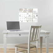 Kolkata Dry Erase Wall Calendar With Notes Decal
