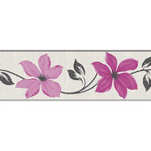 Lily Pink Peel and Stick Wall Border