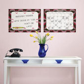Loopy Red Dry Erase Calendar Memo Board Decal Set