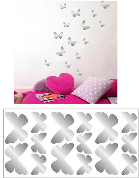 Butterfly Foil Peel and Stick Wall Decals - Wall Sticker Outlet