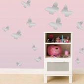 Mirrored Butterflies Peel and Stick Decals
