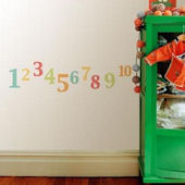 Pastel Numbers Peel and Stick Wall Decals