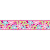 Pretty Flowers Funky Peel and Stick Wall Border