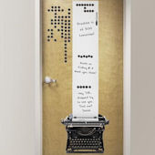Remington Typewriter Giant Dry Erase Decal