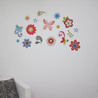 Retro Butterfly Peel and Stick Decals - Wall Sticker Outlet
