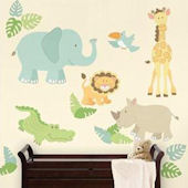 Safari Buddies Jungle Wall Decal Kit