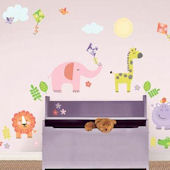 Sunny Day Safari Wall Decal Kit