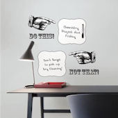 Do This Not That Dry Erase Wall Quote Decal