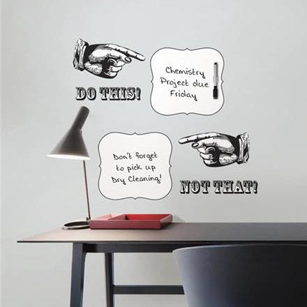 Do This Not That Dry Erase Wall Quote Decal - Wall Sticker Outlet