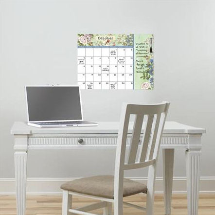 Vintage Bazaar Dry Erase Calendar With Notes Decal - Wall Sticker Outlet