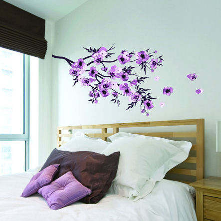 Art Applique Watercolour Flowers Wall Decals - Wall Sticker Outlet
