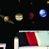 Art Applique Planets Wall Decals