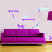 Art Applique Patterned Pets Wall Decals