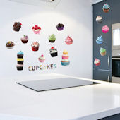 Art Applique Cupcakes Wall Decals