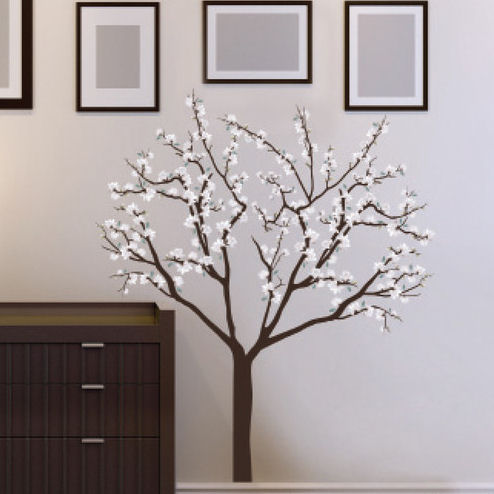 Art Applique Magnolia Blossoms Wall Decals - Wall Sticker Outlet