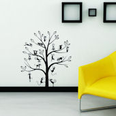 Art Applique Tree Full of Cats Wall Decals