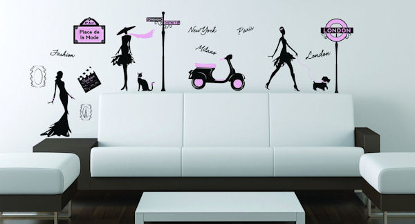 Art Applique Fashion Streets Wall Decals - Wall Sticker Outlet