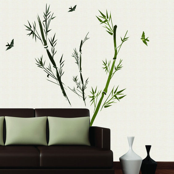 Art Applique Bamboo II Wall Decals - Wall Sticker Outlet
