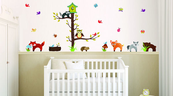 Art Applique Forest Animals Wall Decals - Wall Sticker Outlet