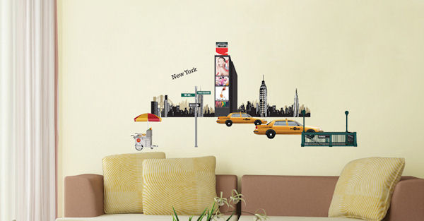 Art Applique I Love NY Wall Decals - Wall Sticker Outlet
