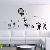 Art Applique Old Time Movies Wall Sticker