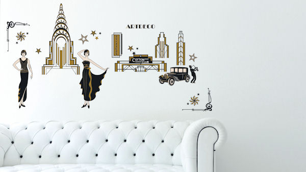 Art Applique Art Deco Wall Stickers - Wall Sticker Outlet