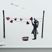 Art Applique Young Hearts Wall Stickers