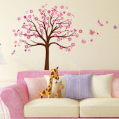 Art Applique Tree of Hearts Wall Decals
