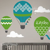 Custom Color Hot Air Balloon Wall Decals