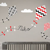 Custom Color Flying Kites Wall Decals