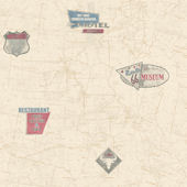 Route 66 Map Red Wallpaper