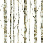 Enchanted Forest White Wallpaper