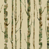 Enchanted Forest Tan Wallpaper