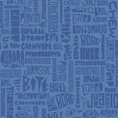 Typosaurus Blue Sidewall Wallpaper