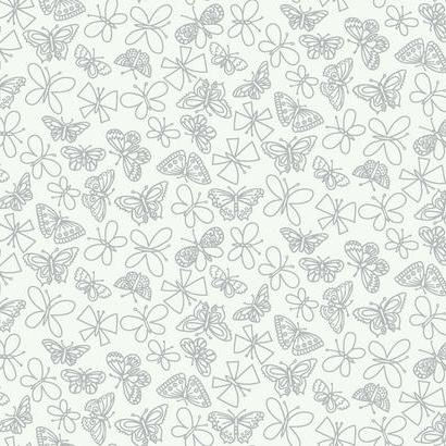 Glitter Butterfly Black Wallpaper