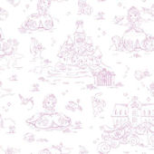 Disney Pink Princess Sofia Toile Wall Paper
