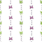 Disney Pink And Green Bows And Stripes Wall Paper