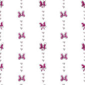 Disney Pink Bows And Stripes Wall Paper
