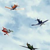 Disney Planes In The Clouds Wall Paper