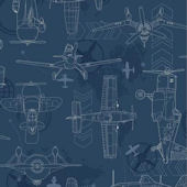 Disney Planes Navy Blueprint Sidewall Wall Paper