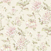 Painterly Floral Cream Wallpaper