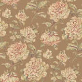 Painterly Floral Brown Wallpaper