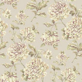 Painterly Floral Grey Wallpaper